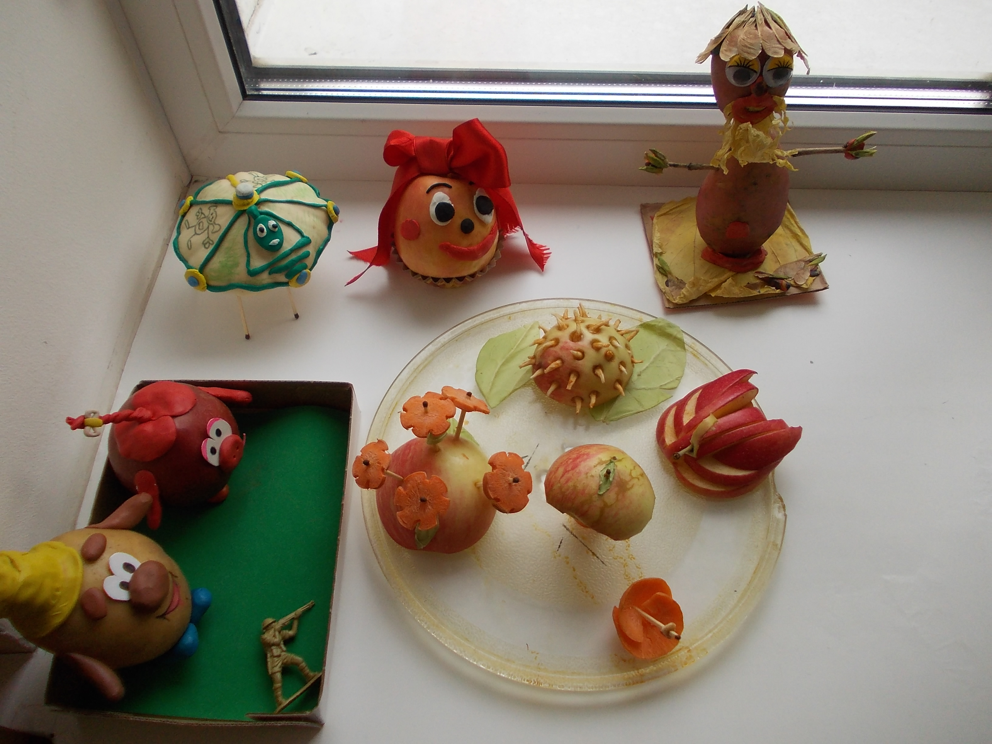 Как делать детские поделки из овощей фото